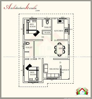 700 Square Feet Contemporary House Plan With Beautiful Elevation Architecture Kerala Southern House Plans Contemporary House Plans New House Plans