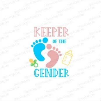 Keeper Of The Gender Gender Reveal Svg Png Jpg Etsy Gender Reveal Svg Banner Ads Gender Reveal