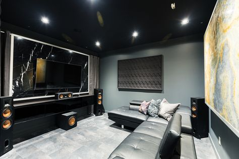 Our Ultra Modern Theater Room Man Cave Reveal Modern Man Cave