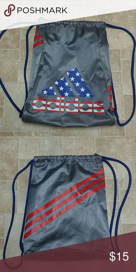 ... Adidas USA Drawstring Backpack Great condition USA print drawstring bag  by Adidas adidas Bags Backpacks premium ... 7ead9f1b43