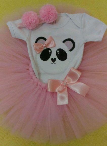 Kit Tutu Urso Panda No Elo7 Babyperolas Ea9b65 Festa De Panda Festa Tematica Panda Festa De Aniversario Do Panda
