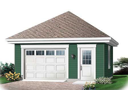 Plan 21706dr 1 Car Detached Garage With Light Storage In 2021 Garage Plans With Loft Building A Garage Garage Plans