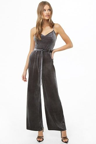 Velvet Belted Palazzo Jumpsuit Forever 21 Jumpsuit Palazzo Jumpsuit Jumpsuit Dressy