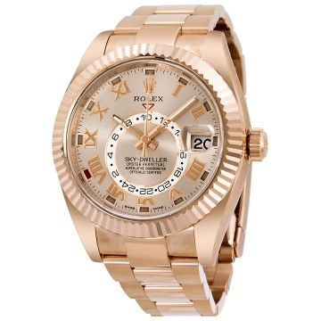 Buy Brand New Mens Ever Rose Gold 326935 Rolex Brown Dial Sky Dweller at online store