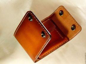 daa52f7d0b30 Купить или заказать Кожаное портмоне. в интернет-магазине на Ярмарке  Мастеров. Портмоне ручной работы. Полностью из кожи растительного дубления.