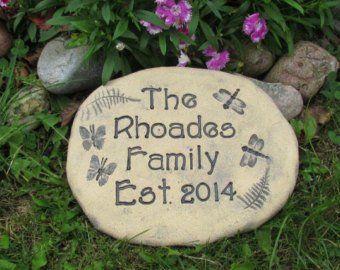 Ceramic Garden Signs Etsy Personalized Garden Stones Personalized Housewarming Gifts Garden Stones