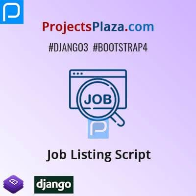 This Is Job Listing Script In Django And Bootstrap In This Script Job Consultant Company Can Add Jobs In The Admin Area Job Seeke In 2020 Job Job Seeker Company Job