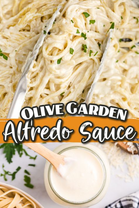 How to make Copycat Olive Garden Fettuccine Alfredo Sauce! Hands down the best Alfredo sauce and it is not only an easy family dinner right, but its rich, creamy flavor is just as good as eating it in the restaurant!