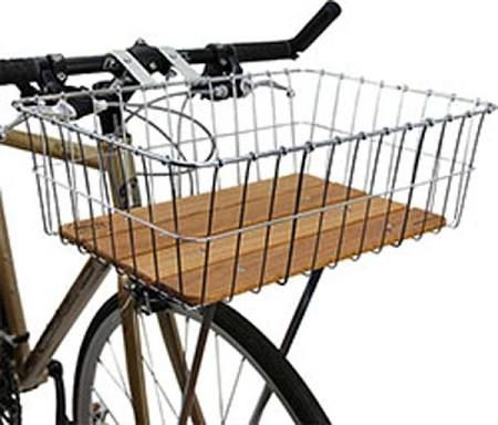 Wald 139 Standard Large Front Bike Basket Silver
