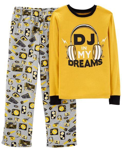 cbf528add468 2-Piece DJ Cotton   Fleece PJs