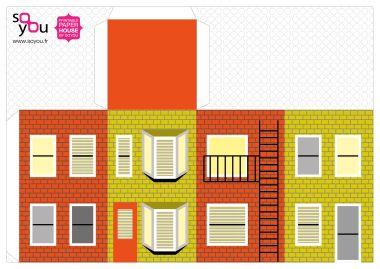 Paper House Maison De Papier Modele 05 Casa Para Maquete