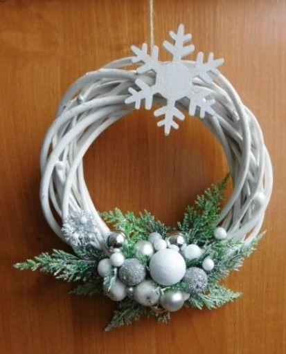 Piekny Wianek Na Drzwi Stroik Boze Narodzenie 7680787359 Oficjalne Archiwum Allegro Christian Decor Hanukkah Wreath Christmas