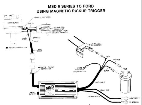 wiring an msd with diagram for 6al distributor for msd