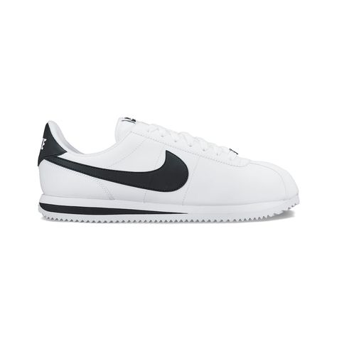 super popular 56fe3 22ff5 Nike Cortez Basic Leather Mens Casual Shoes, White