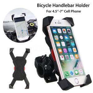 Motocicleta Manillar de Bici Bicicleta Mount Holder soporte para teléfono celular móvil