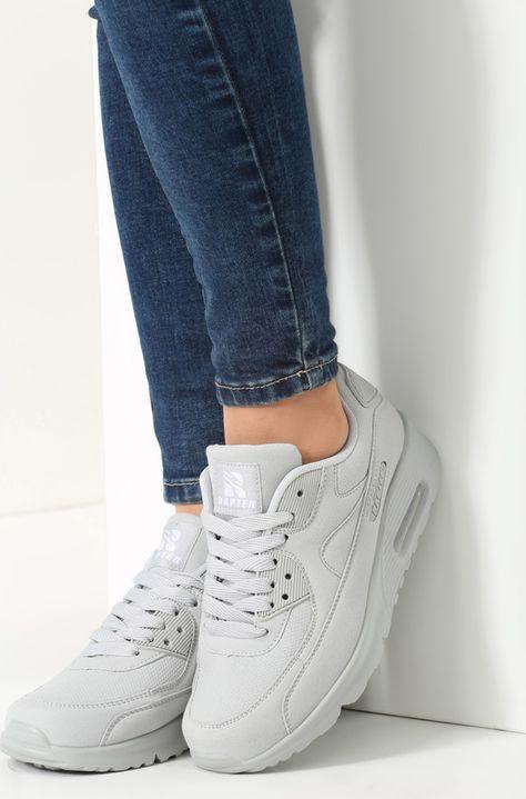 Renee Jasnoszare Buty Sportowe Vintage Nilda Shoes White Sneaker Fashion