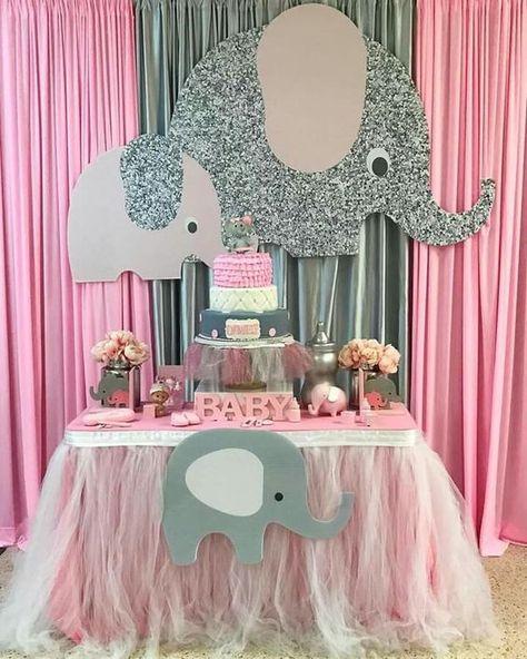 Ideas De Baby Shower Para Nena.Ideas Para Baby Shower De Nina Tematico De Elefantes En 2020