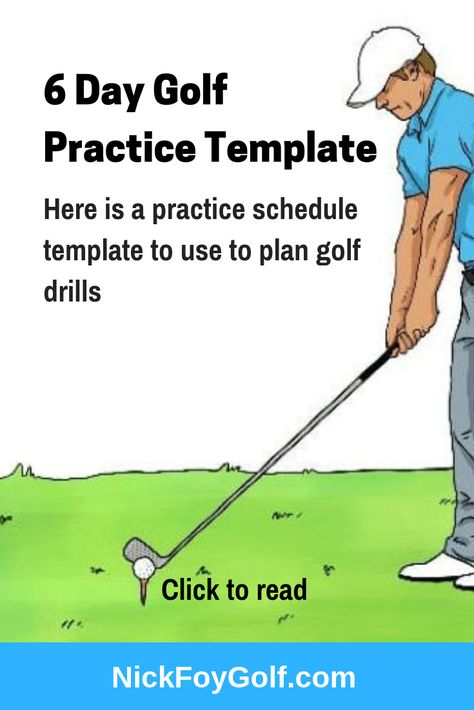 Golf Practice Schedule Template for 6 Days