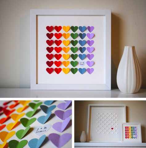 Like this idea but have guests sign the hearts