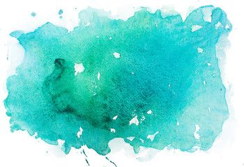Abstract Watercolor Aquarelle Paint Hand Drawn Colorful Splatter