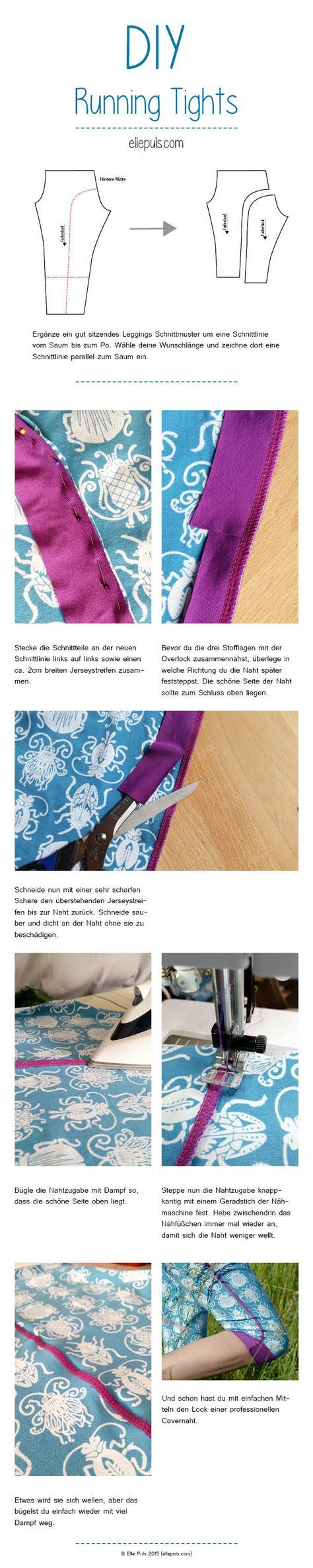 DIY / Tutorial: Running Tights selber machen | Elle Puls