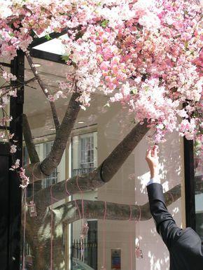 Cherry Blossom Tree Installation Jo Malone London Window Display Flower Store Installation Art