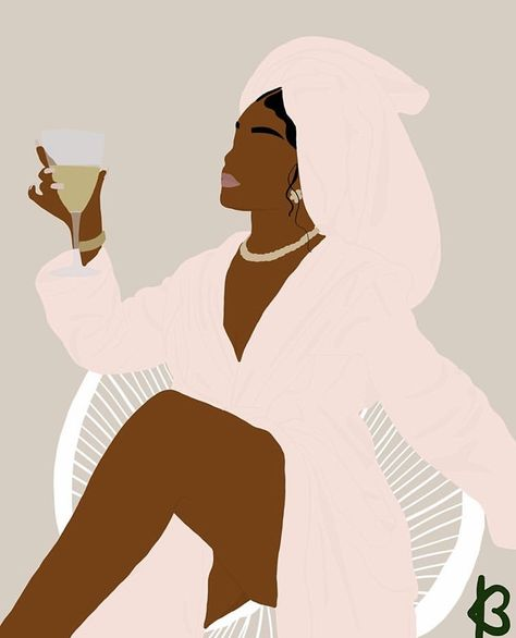 Black Girl Cartoon, Black Girl Art, Black Women Art, Art Girl, Black Girl Aesthetic, Brown Aesthetic, Aesthetic Art, Black Art Painting, Black Artwork