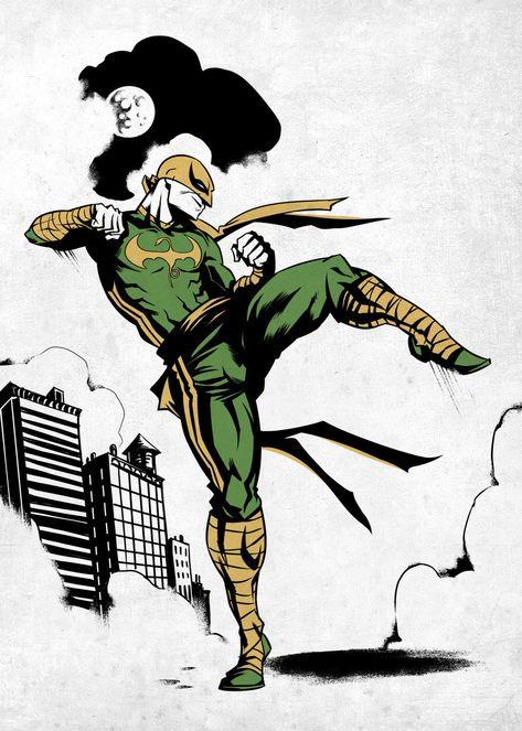 Iron Fist Marvel, Iron Fist Comic, Marvel Comics Art, Marvel Comic Universe, Marvel Heroes, Luke Cage, Comic Books Art, Comic Art, Book Art