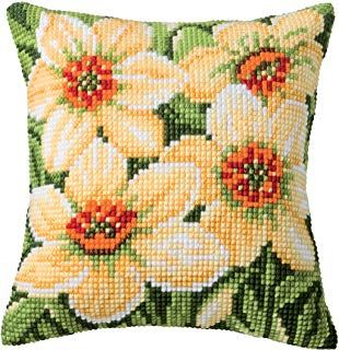 Vervaco Delphinium Flowers PN-0143709 Cross Stitch Cushion Front Kit