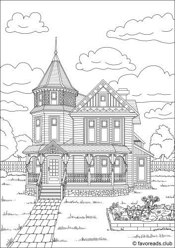 Authentic Architecture Lovely House House Colouring Pages