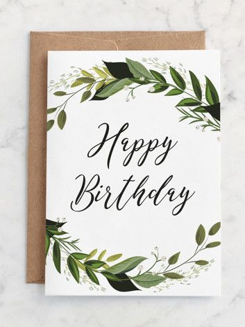The Minted Greeting Card Subscription Send Loved Ones Special Birthday Greetings With Un Calligraphy Birthday Card Birthday Card Drawing Simple Birthday Cards