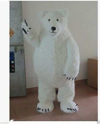 Handmade Polar Bear Mascot Costumes Cosplay Adult Fancy Party Dress High Quality