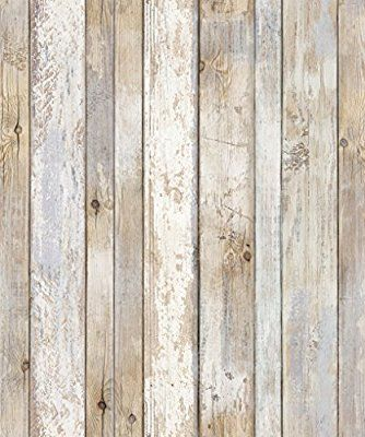 Reclaimed Wood Distressed Wood Panel Wood Grain Self Adhesive Peel Stick Wallpaper Vbs301 Amaz How To Distress Wood Adhesive Wood Paneling Wood Wallpaper