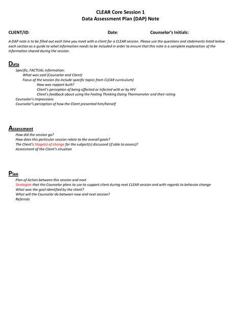 casenote template