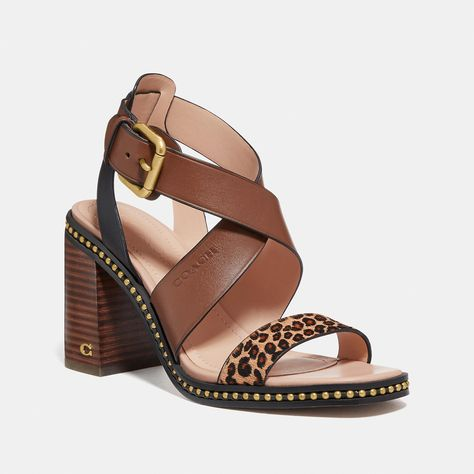 Coach Official Site In 2020 Sandals Womens Sandals Coach Leather