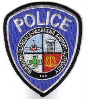 Us State Of California Burbank Glendale Pasadena Airport Authority Police Department Patch Police Badge Police Pasadena
