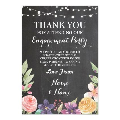 Rustic Thank You Card Wedding Chalk Flowers Invite Zazzle Com Wedding Chalk Wedding Cards Wedding Thank You Cards