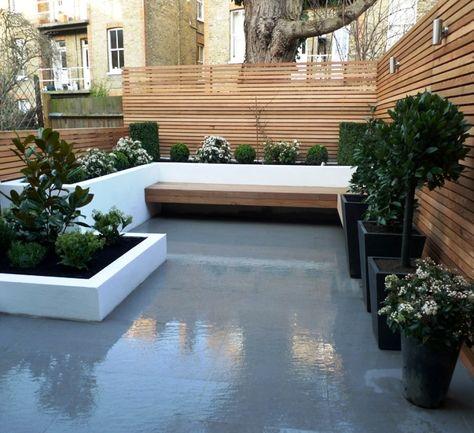 Pinned to Garden Design - Roof Gardens by Darin Bradbury Bic - dachterrasse gestalten stadtoase wasserspielen miami