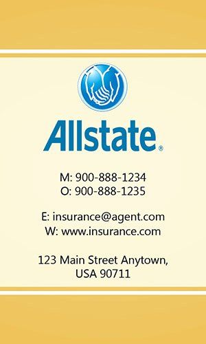 Allstate Insurance Card Template Elegant Insurance Agent Business Card Allstate Insurance Card Template Templates