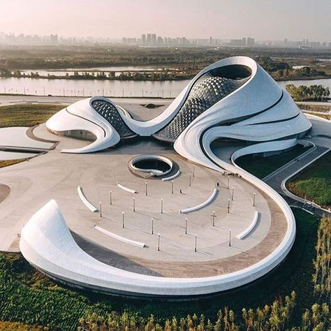 cheese grater? no, harbin opera house by #madarchitects @madarchitects on #designboom  photo by @nk7
