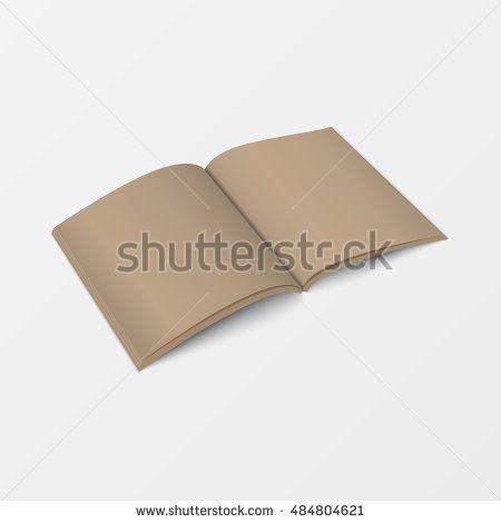Mock up 3d leaflet blank. Top view. For brochure, leaflet ...