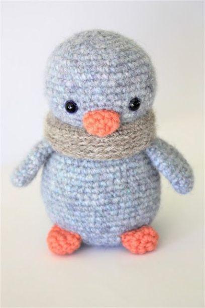 Amigurumi em Crochê Pinguim Baby   Aprendendo Crochê   613x408