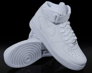 Nike Air Force 1 High Top White On Feet  cdda97fb5a1c