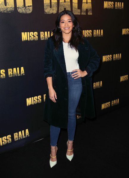 Gina Rodriguez attends the 'Miss Bala' photo call at The London Hotel.