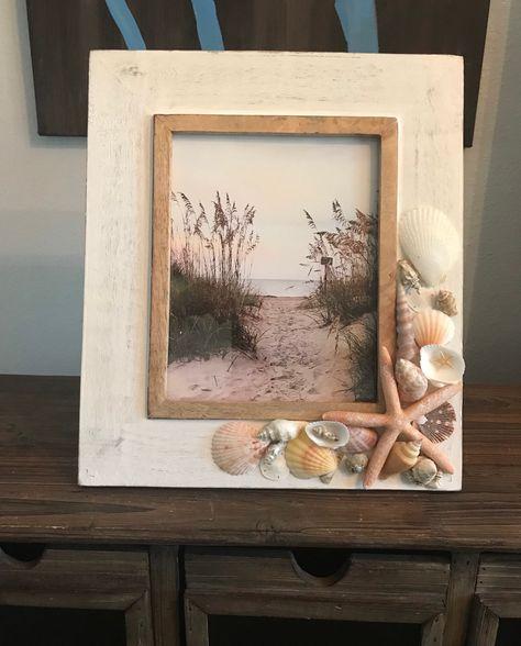 Excited to share the latest addition to my #etsy shop: 8x10 Oversized Beach Frame, Shell Frame, Picture Frame #frame #beachframe #seashellframe #shellframe #etsyshop #shopetsy #gift #woodframe #buyme -#pictureframe #homedecor #beachfecr