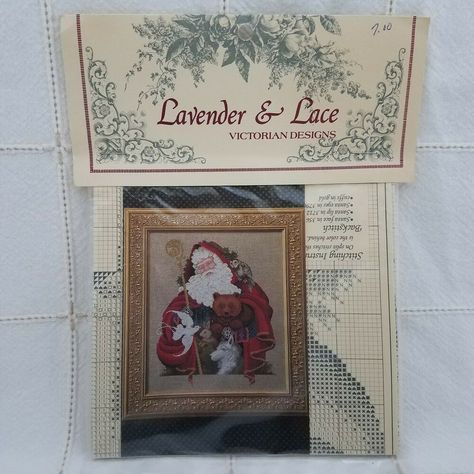 Santa of the Forest Chart Counted Cross Stitch Lavender and Lace Leavitt-Imblum #LavenderandLace