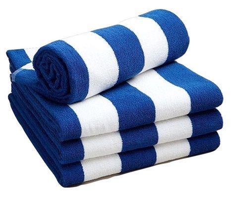 New Unisex 100 Egyptian Cotton Pool Beach Towel Blue White