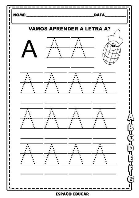 Coordenacao Motora Do Alfabeto Em Letra Bastao Arquivo Digital