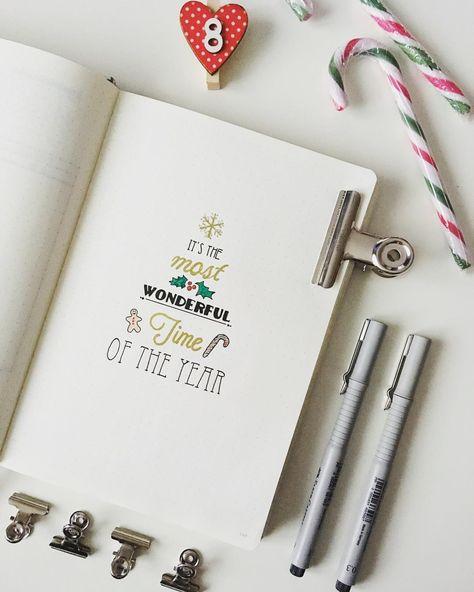 16 Stunning December Inspired Bullet Journal Spreads + December Plan with me Video!