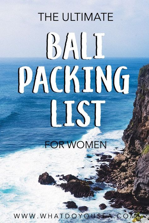 The Ultimate Bali Packing List For Women - #Bali #List #packing #ULTIMATE #women